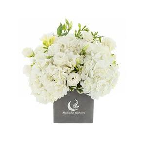 White Flower bouquet   Plaisir Cadeaux et Fleurs