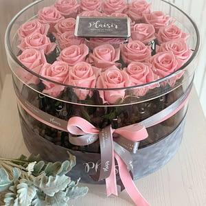 VIP Round Acrylic 25 Infinity Pink Roses