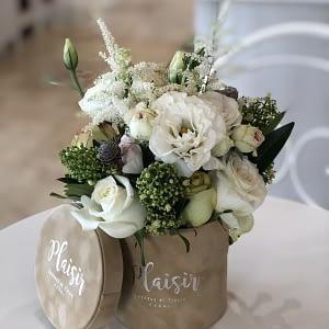 Tan Mini all White Floral-Style B