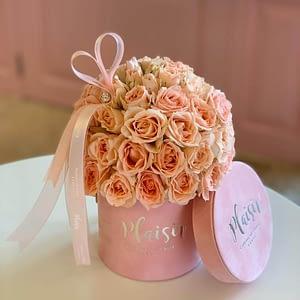 Petite Pink Rose Dome