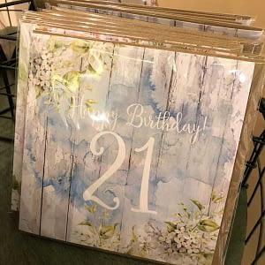 Happy Birthday 21 Blue