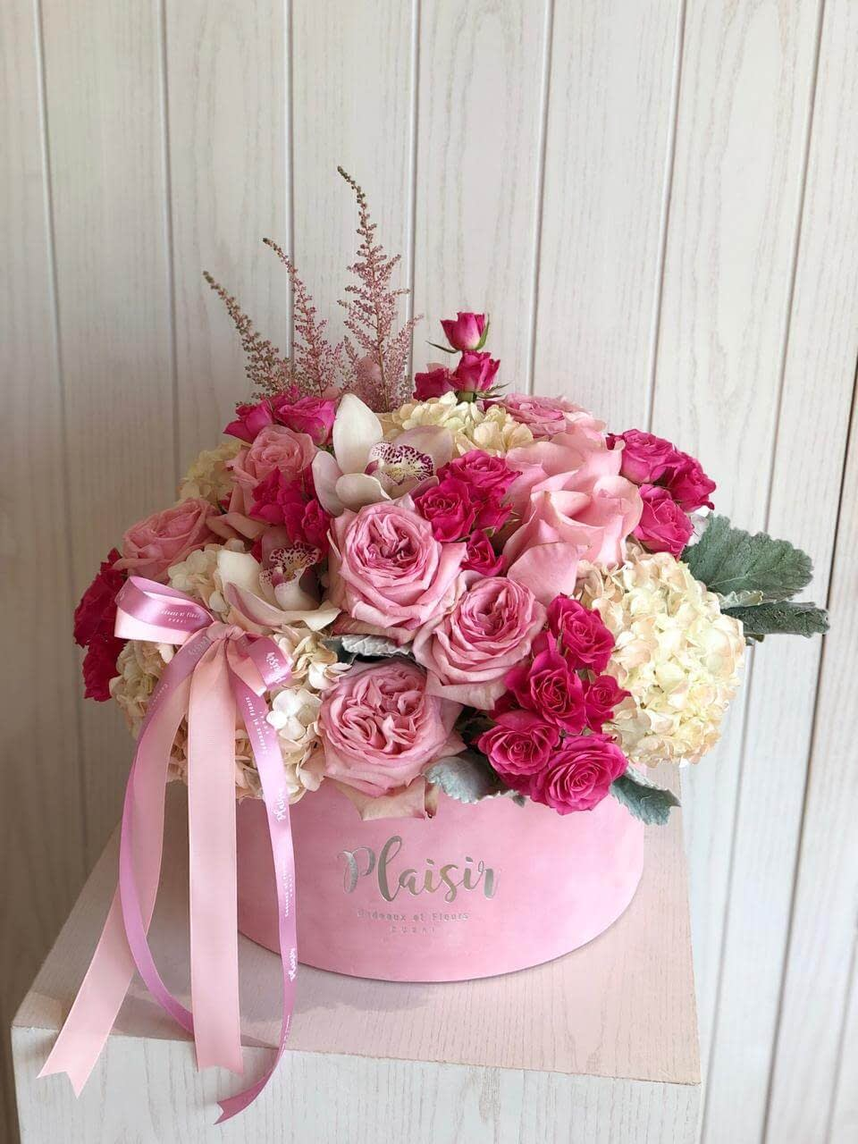 Pink Hatbox Pink Floral-Style B