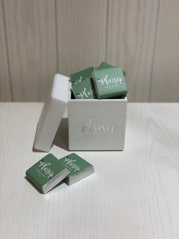 Square White Patchi Box