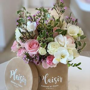 Tan Mini Pink _ White Floral