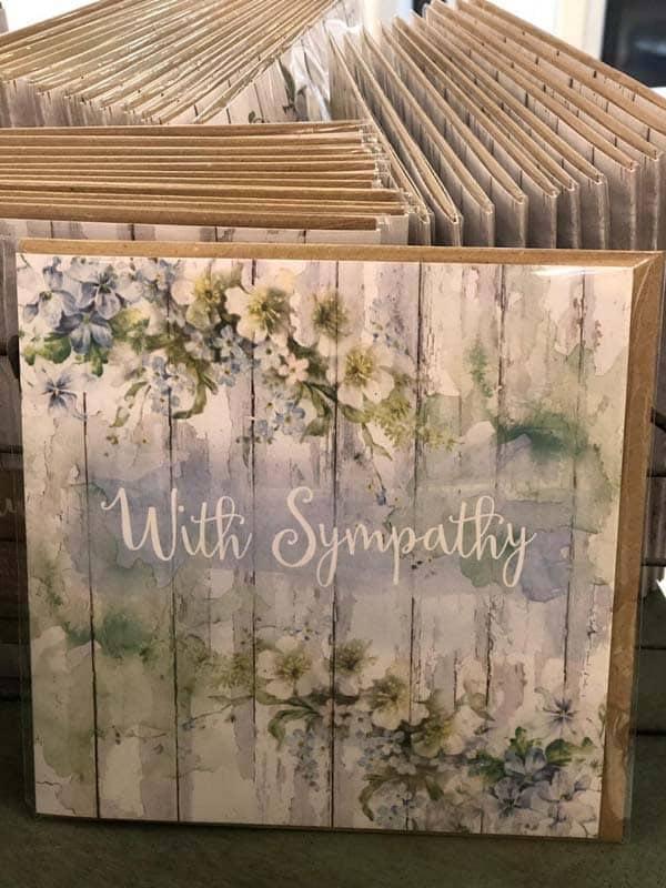 Symphaty Greeting Cards   Plaisir Cadeaux et Fleurs