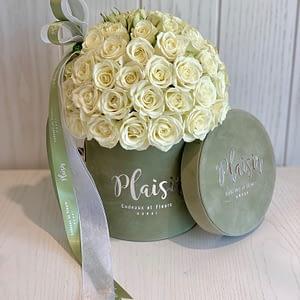 Mini Olive _ white rose dome