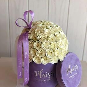 White Rose Dome in Lilac Mini