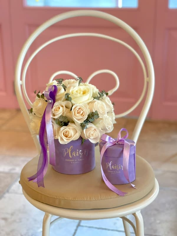 Lilac Rose and Chocolate Giftset