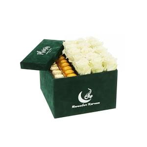 Chocolate & Roses in Box | Plaisir Cadeaux et Fleurs