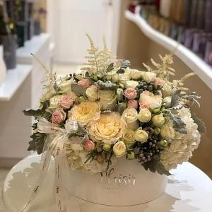 White Hatbox White floral mix-StyleB
