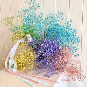 Hand tied rainbow bouquet