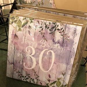 Happy Birthday 30 Purple